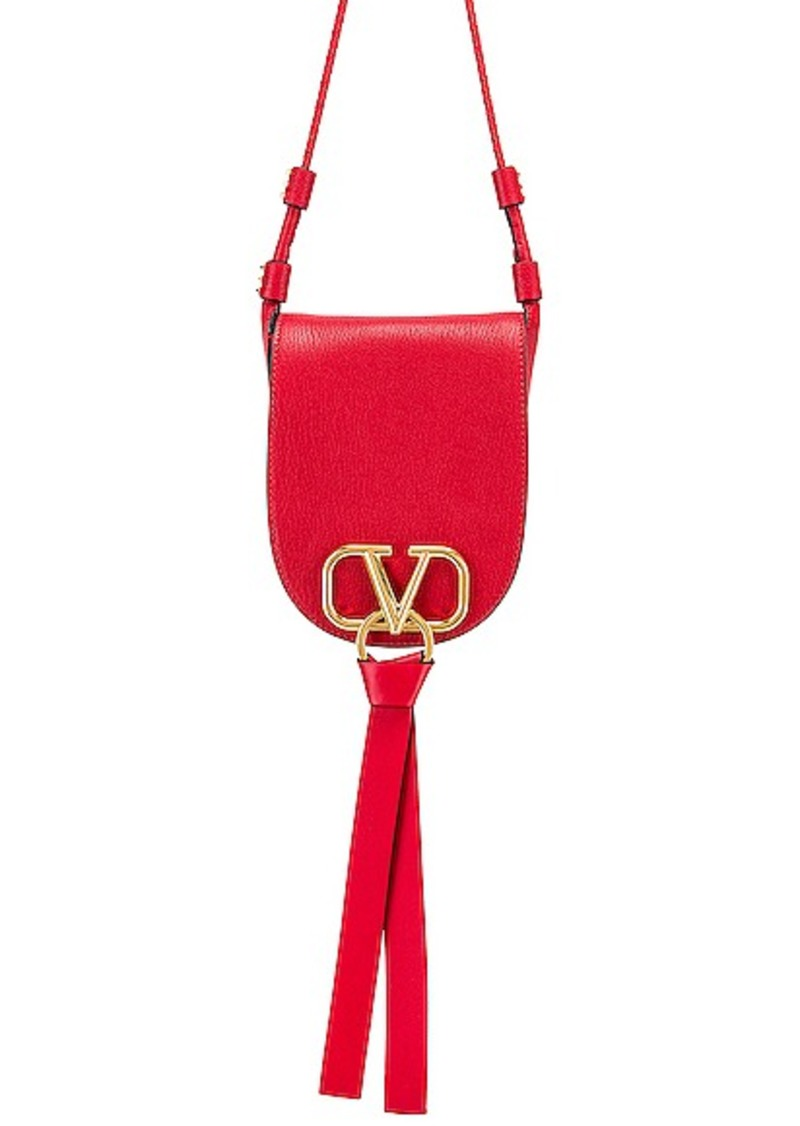 Valentino VRing Small Saddle Bag