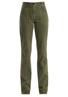 Valentino Washed-effect denim straight-leg trousers