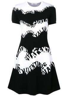 Valentino wave logo mini dress