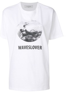 Valentino waves lover print T-shirt - White