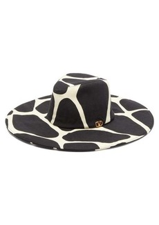 Valentino Garavani Wide-brim 1966 giraffe-print wool hat