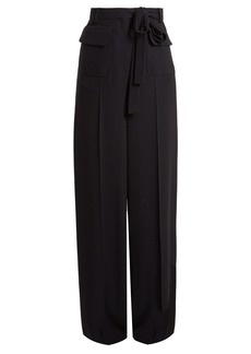 Valentino Wide-leg crepe trousers