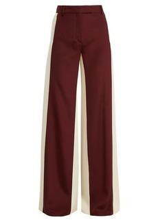 Valentino Wide-leg low-waist stripe tailored trousers