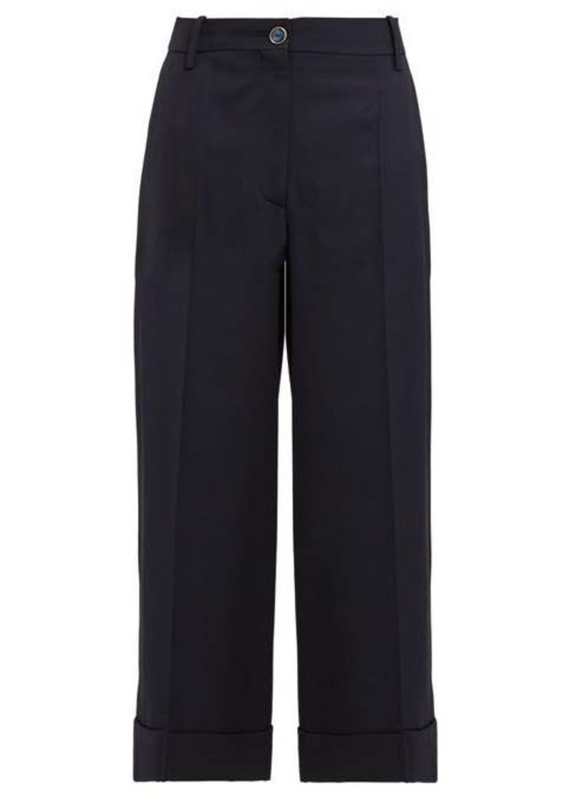 Valentino Wide-leg wool-blend trousers