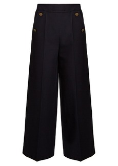 Valentino Wide-leg wool cropped trousers