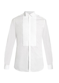 Valentino Wingtip-collar double-cuff cotton shirt