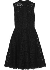 Valentino Woman Bow-detailed Silk-blend Corded Lace Dress Black