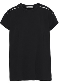 Valentino Woman Bow-embellished Knitted Top Black
