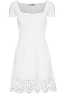 Valentino Woman Broderie Anglaise Ponte Mini Dress White