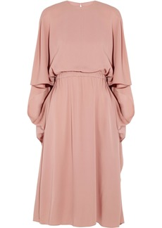 Valentino Woman Cape-back Silk Dress Antique Rose