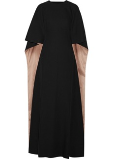 Valentino Woman Cape-effect Cutout Crepe Gown Black