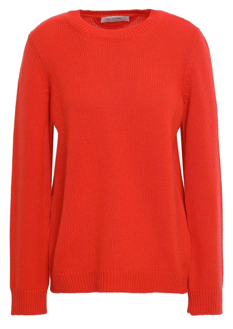 Valentino Woman Cashmere Sweater Tomato Red