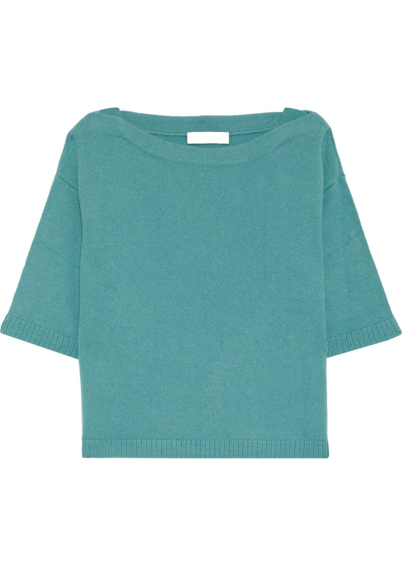 Valentino Woman Ribbed Cashmere Top Teal