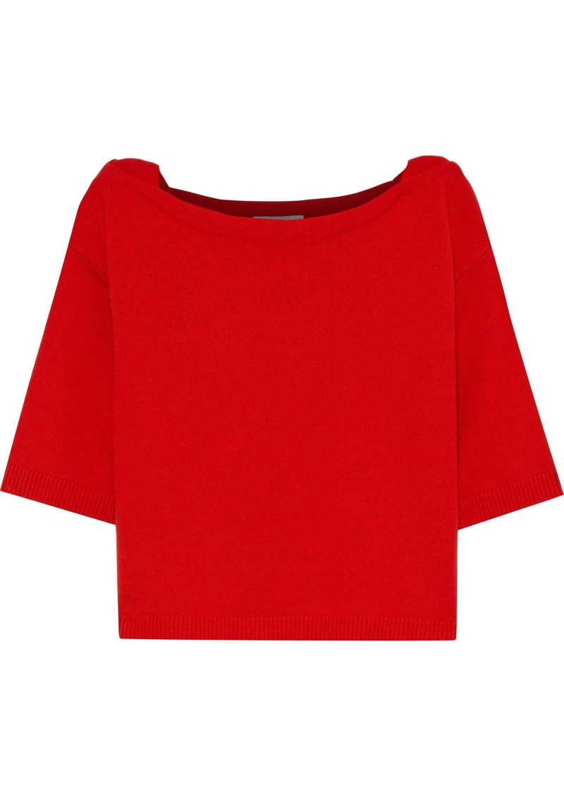 Valentino Woman Ribbed Cashmere Top Red