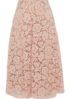 Valentino Woman Cotton-blend Corded Lace Skirt Blush