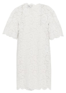 Valentino Woman Cotton-blend Corded Lace Mini Dress Ivory