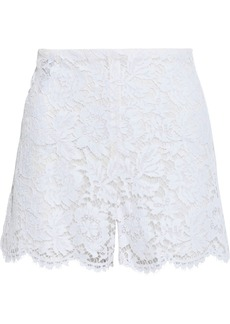 Valentino Woman Cotton-blend Corded Lace Shorts White