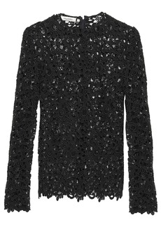 Valentino Woman Cotton-blend Guipure Lace Top Black