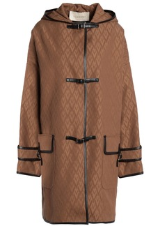 Valentino Woman Cotton-blend Jacquard Coat Light Brown