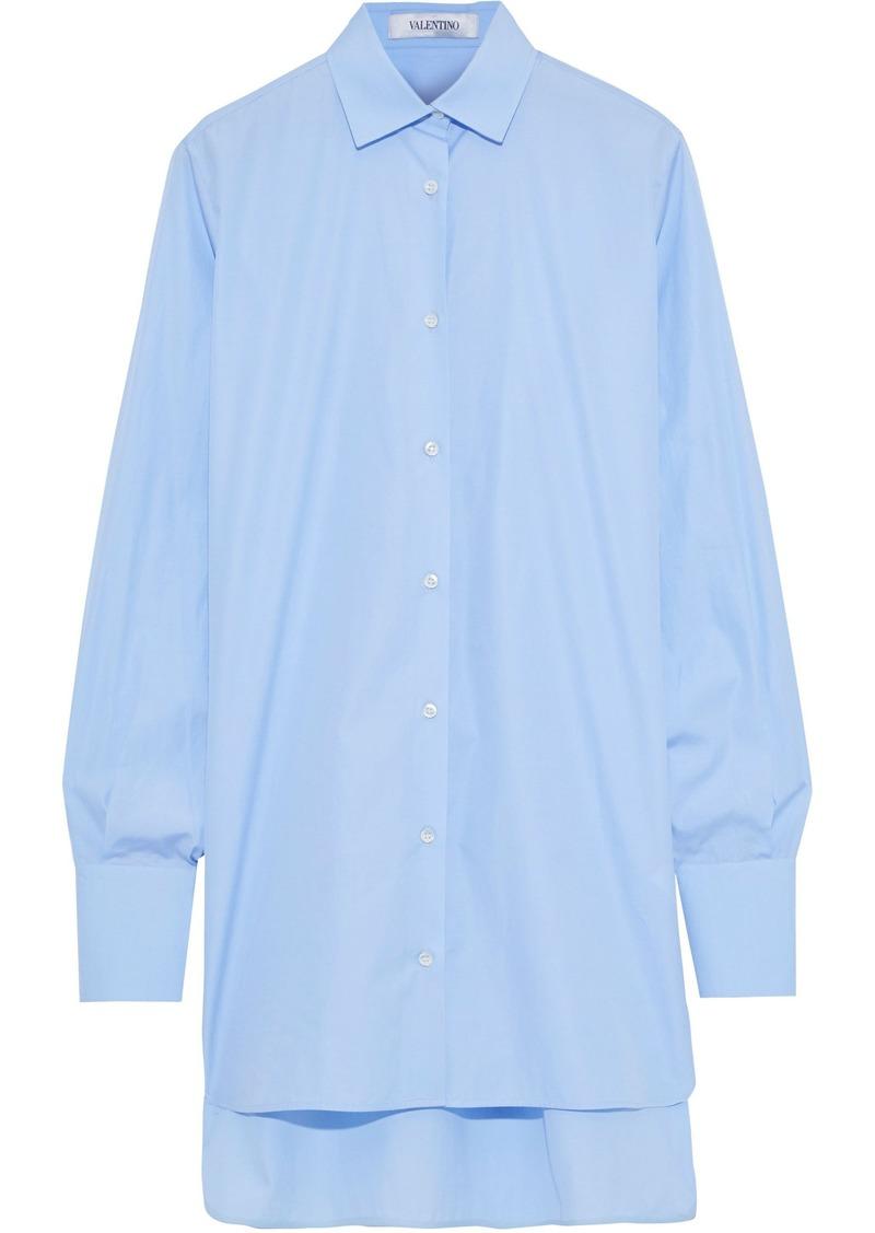 Valentino Woman Cotton-poplin Shirt Light Blue