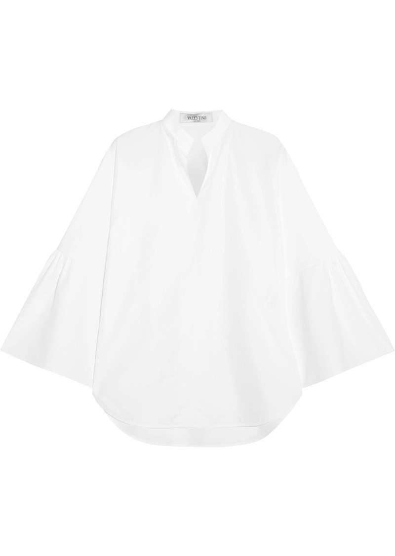 Valentino Woman Cotton-poplin Top White