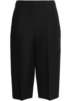 Valentino Woman Cropped Wool And Silk-blend Straight-leg Pants Black