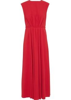 Valentino Woman Draped Crepe Mini Dress Red