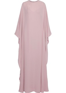 Valentino Woman Draped Silk-crepe Gown Baby Pink