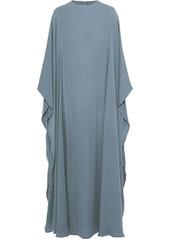 Valentino Woman Draped Silk-crepe Gown Sky Blue