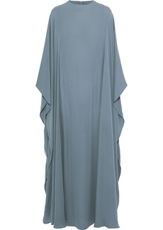 Valentino Woman Draped Silk-crepe Gown Sky Blue