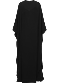 Valentino Woman Draped Silk-crepe Gown Black