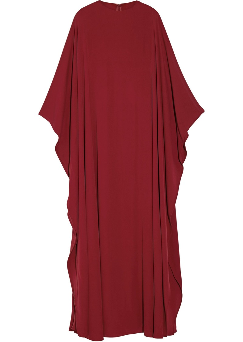 Valentino Woman Draped Silk-crepe Gown Claret
