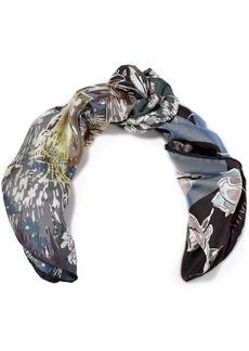 Valentino Woman Floral-print Silk-twill Scarf Multicolor