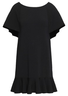 Valentino Woman Fluted Knitted Mini Dress Black