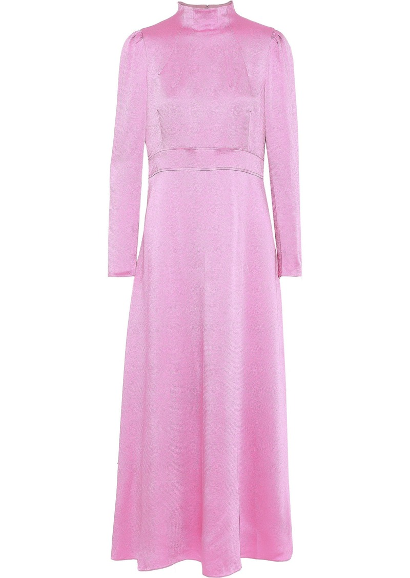 Valentino Woman Hammered-satin Gown Lavender
