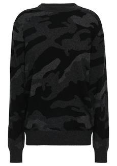 Valentino Woman Intarsia Cashmere Sweater Army Green