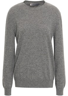 Valentino Woman Intarsia Cashmere Sweater Beige