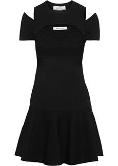 Valentino Woman Layered Cutout Knitted Mini Dress Black
