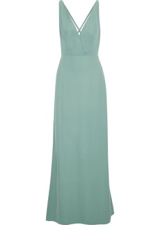Valentino Woman Open-back Silk-crepe Gown Mint