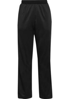 Valentino Woman Printed Satin-jersey Track Pants Black