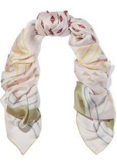 Valentino Woman Printed Silk Scarf Neutral
