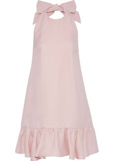 Valentino Woman Ruffled Silk-cady Halterneck Mini Dress Pastel Pink