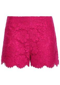 Valentino Woman Scalloped Cotton-blend Corded Lace Shorts Fuchsia