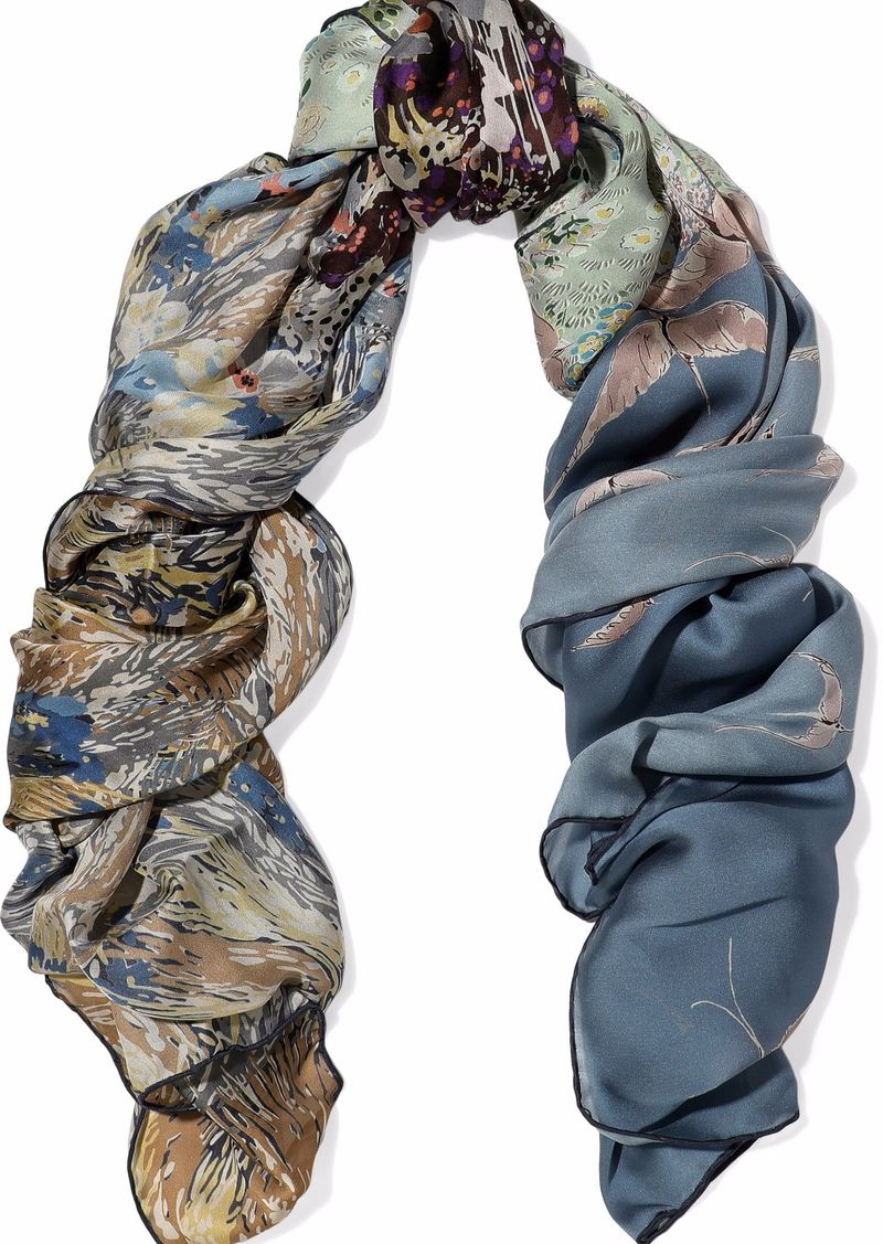 Valentino Woman Printed Silk-chiffon Scarf Multicolor