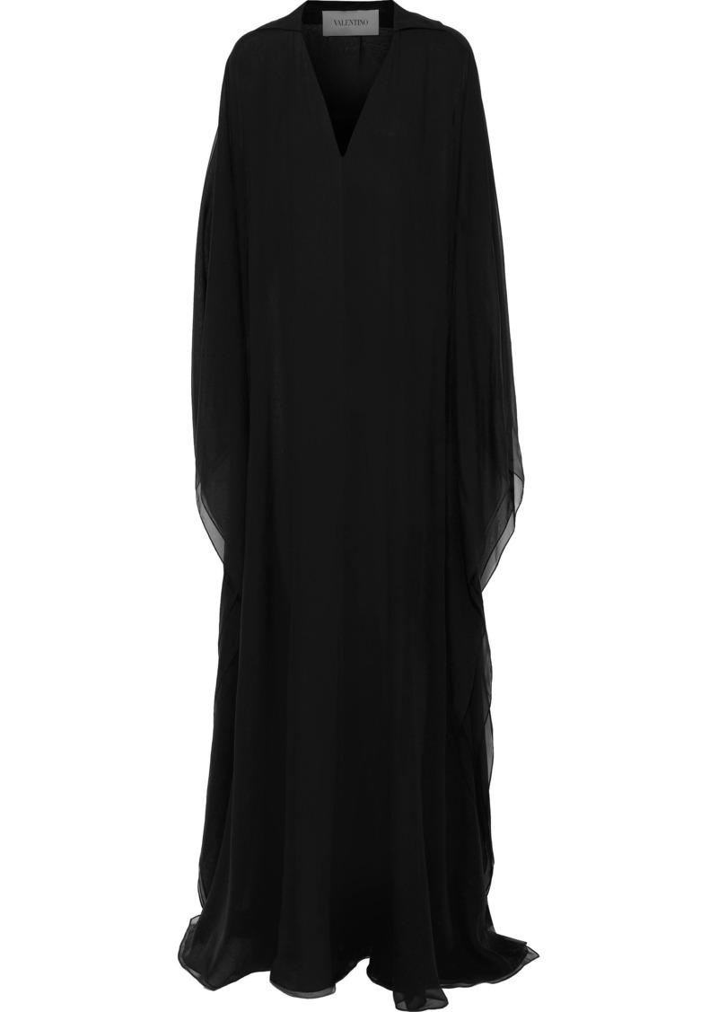 Valentino Woman Silk-chiffon Gown Black