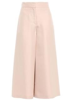 Valentino Woman Silk-shantung Culottes Pastel Pink