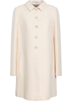 Valentino Woman Split-back Wool And Silk-blend Coat Cream