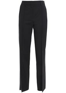 Valentino Woman Stretch-wool Twill Straight-leg Jeans Black