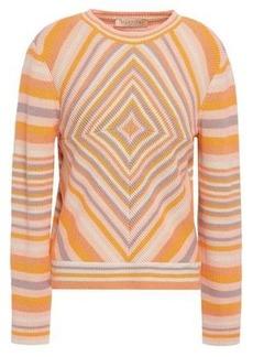 Valentino Woman Striped Cashmere Sweater Saffron