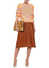 Valentino Woman Striped Cashmere Sweater Saffron